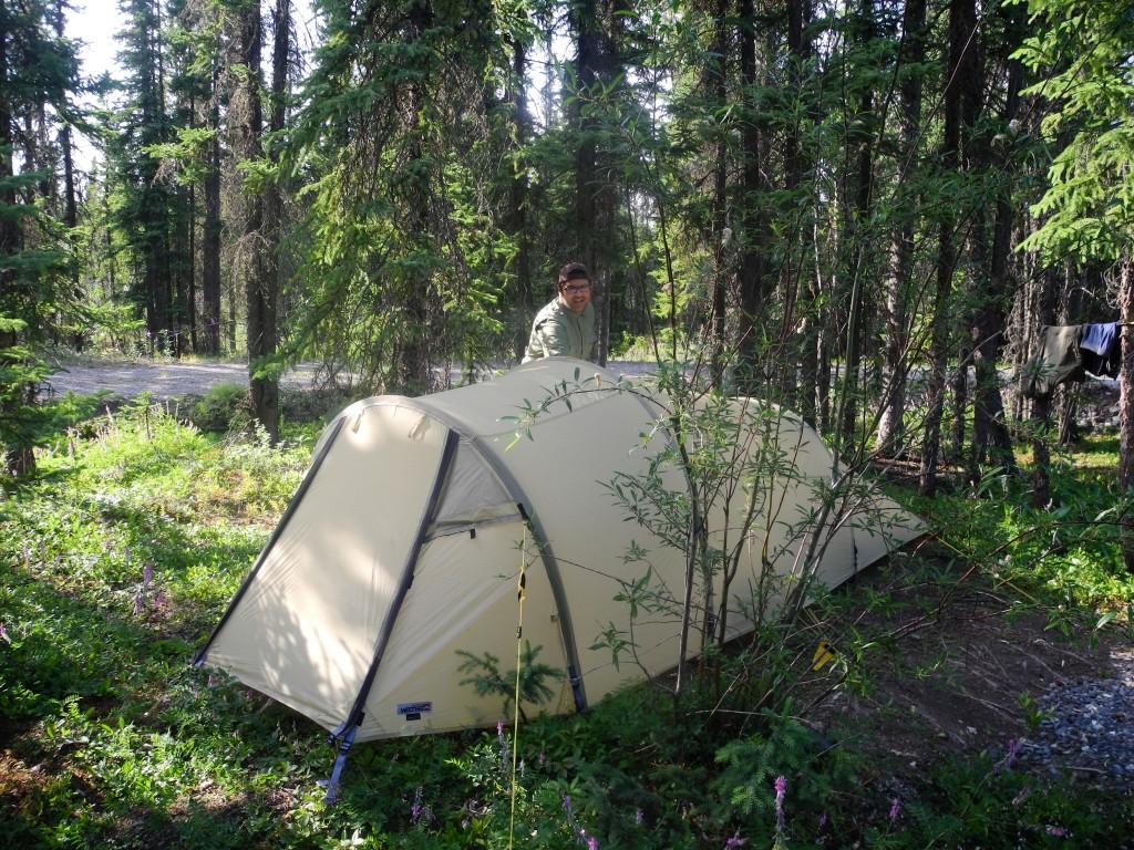 Camping in Glennallen.
