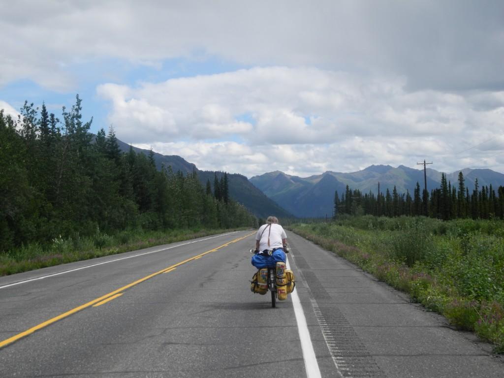 Martine on her bike