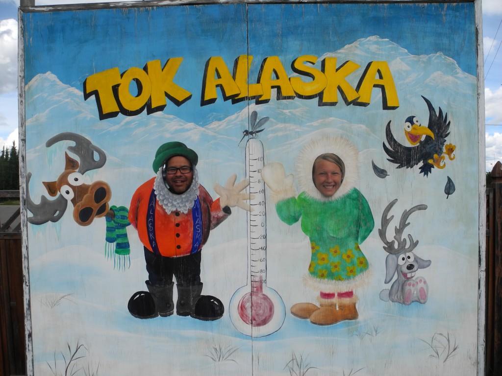Annika and Roberto in Tok, Alaska