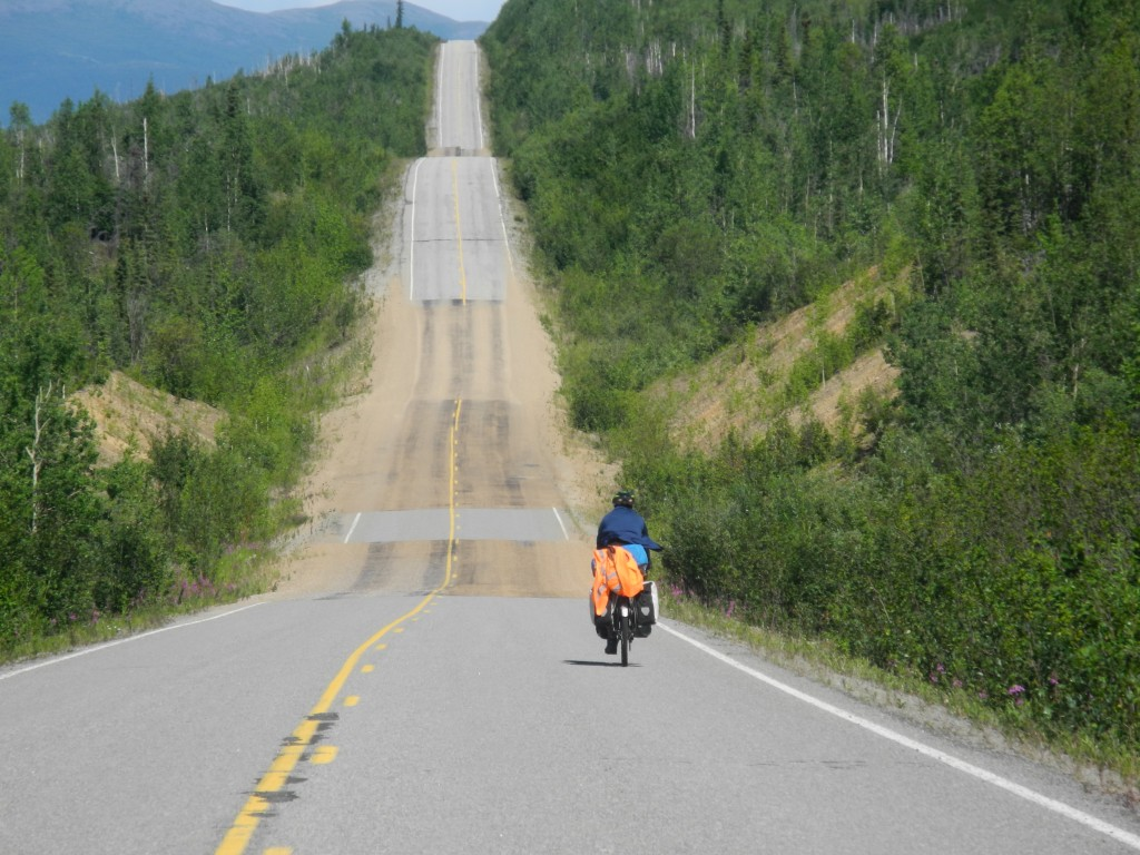 Climbs on the Taylor Highway and Top of the World Highway