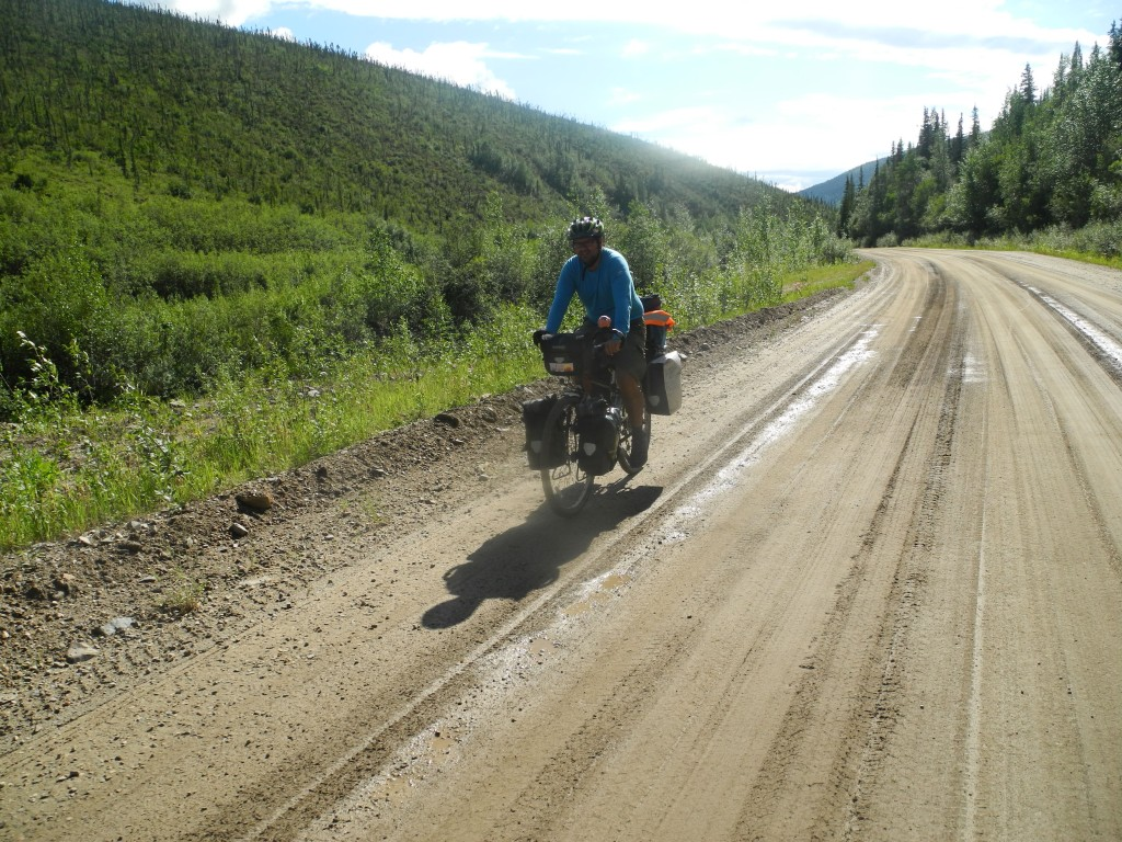 Cycling the unpaved Taylor Highway