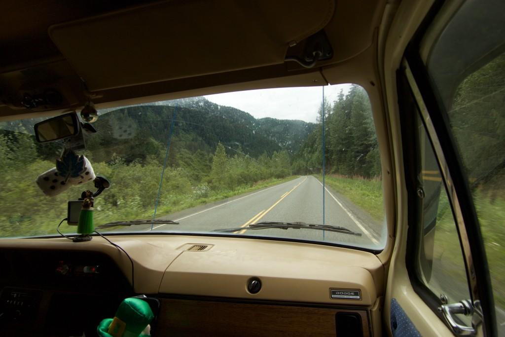 La vista desde la comodidad del carro