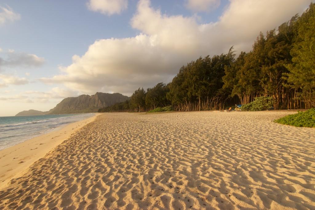Playa de Kailua en la Madrugada