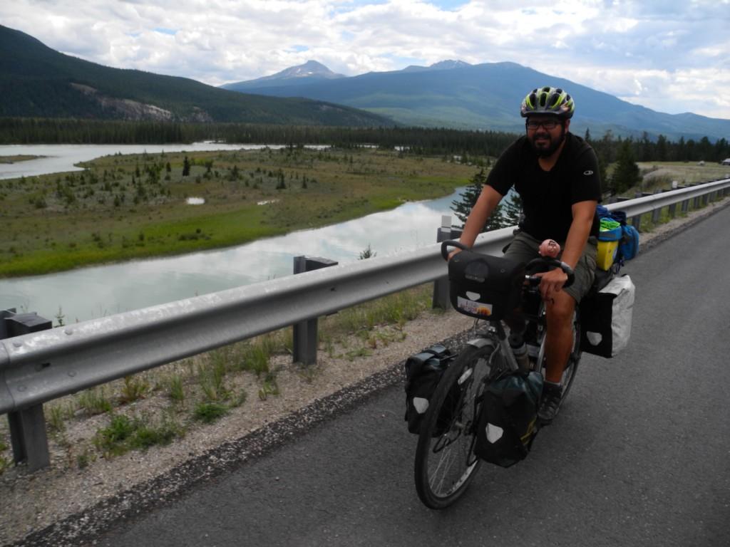 Roberto enjoys the Jasper National Park