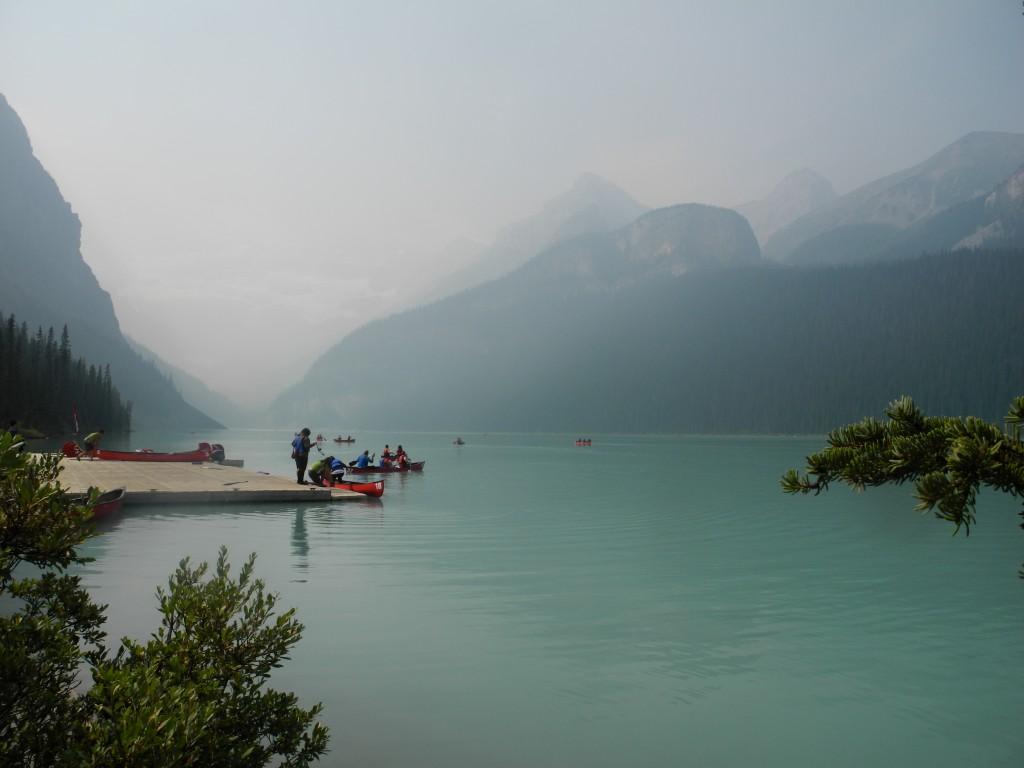 Lake Louise in the smoke