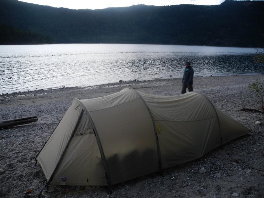Camping at Mara Lake