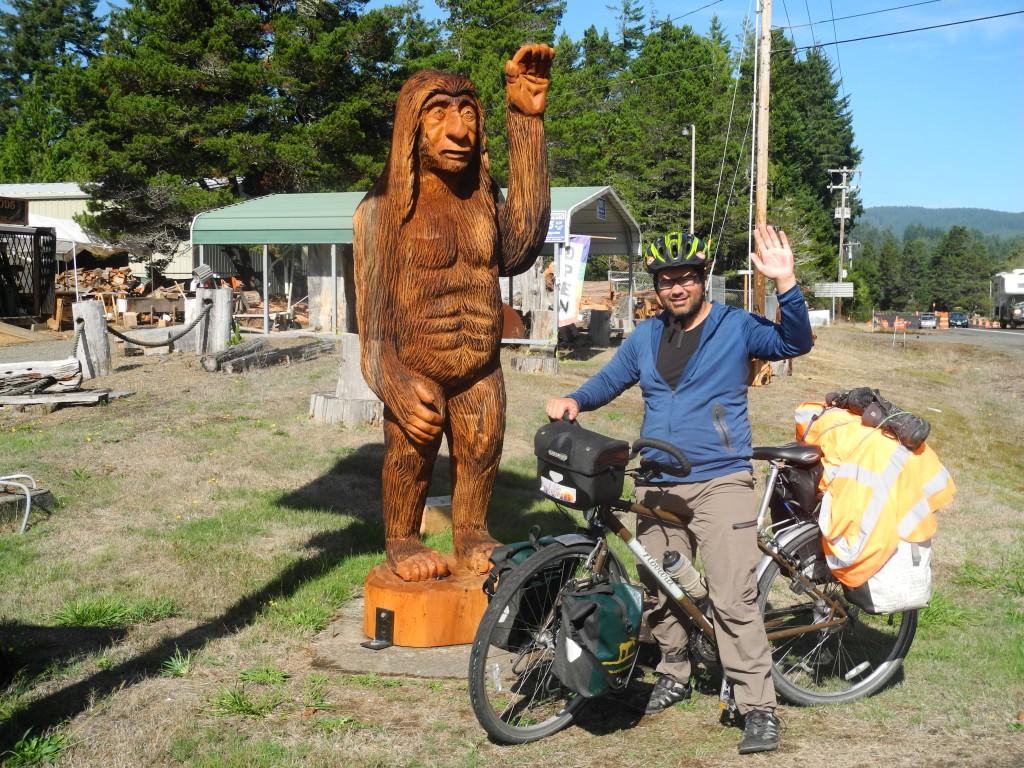 Roberto met another cyclist