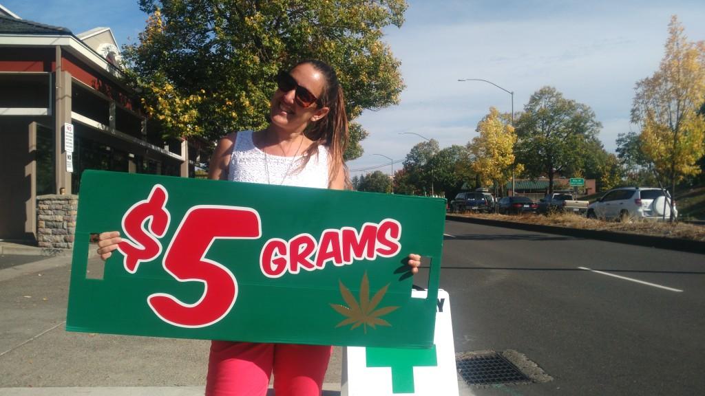 Weed sale in Portland, Oregon