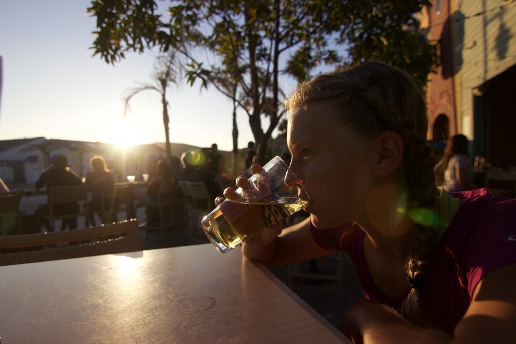 Sunset beer in Avila Beach