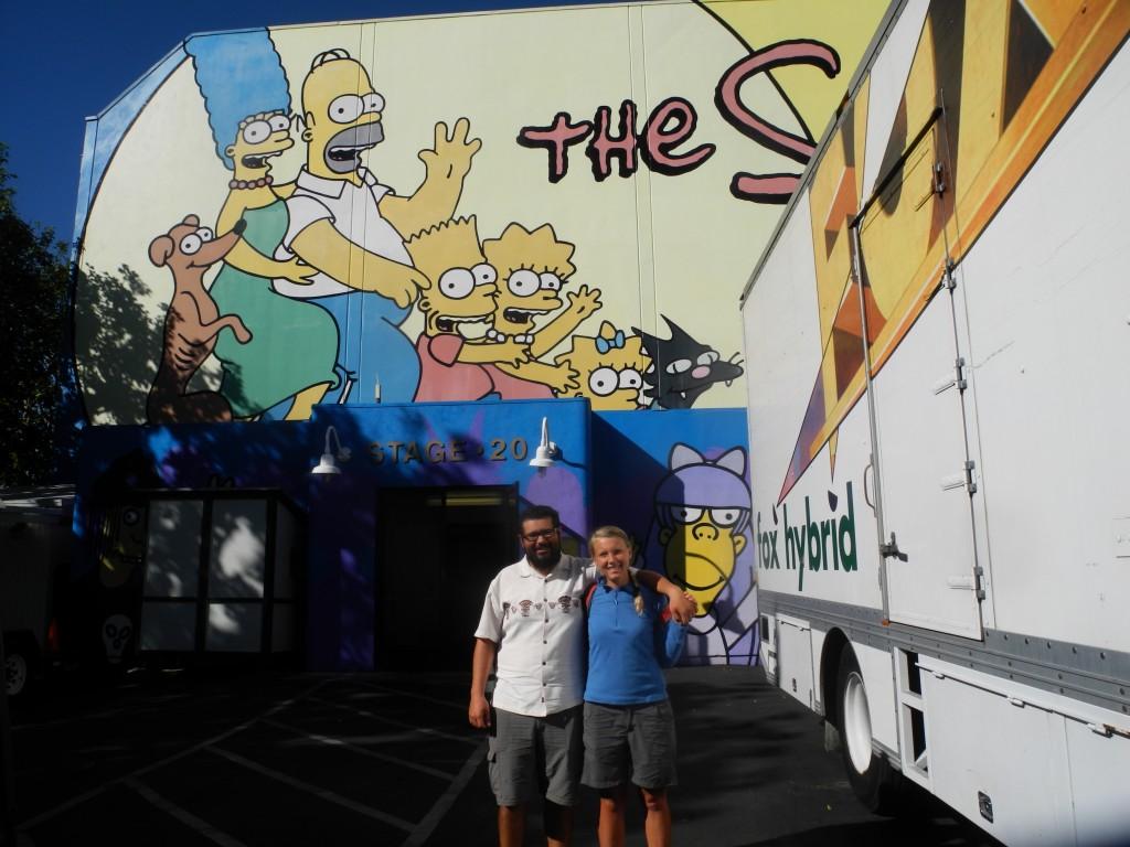 Simpsons painting in the Fox Studios, Los Angeles