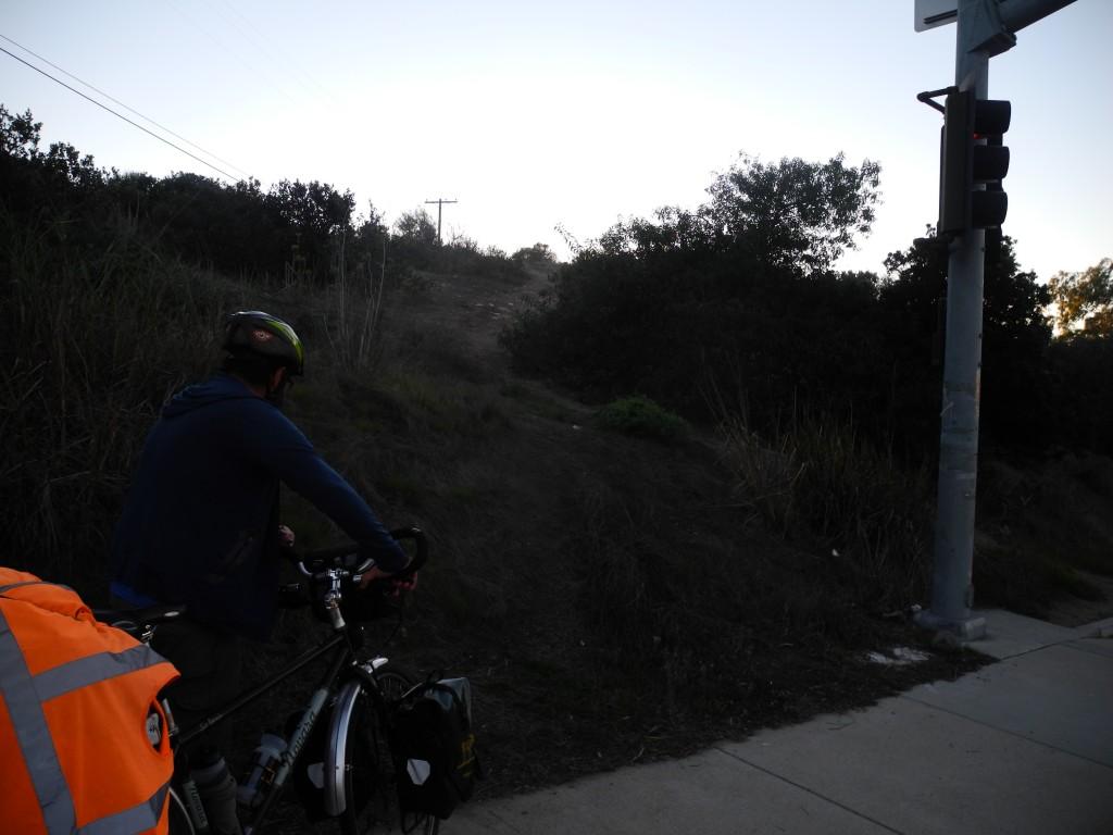 Confusing google maps bike path in San Diego
