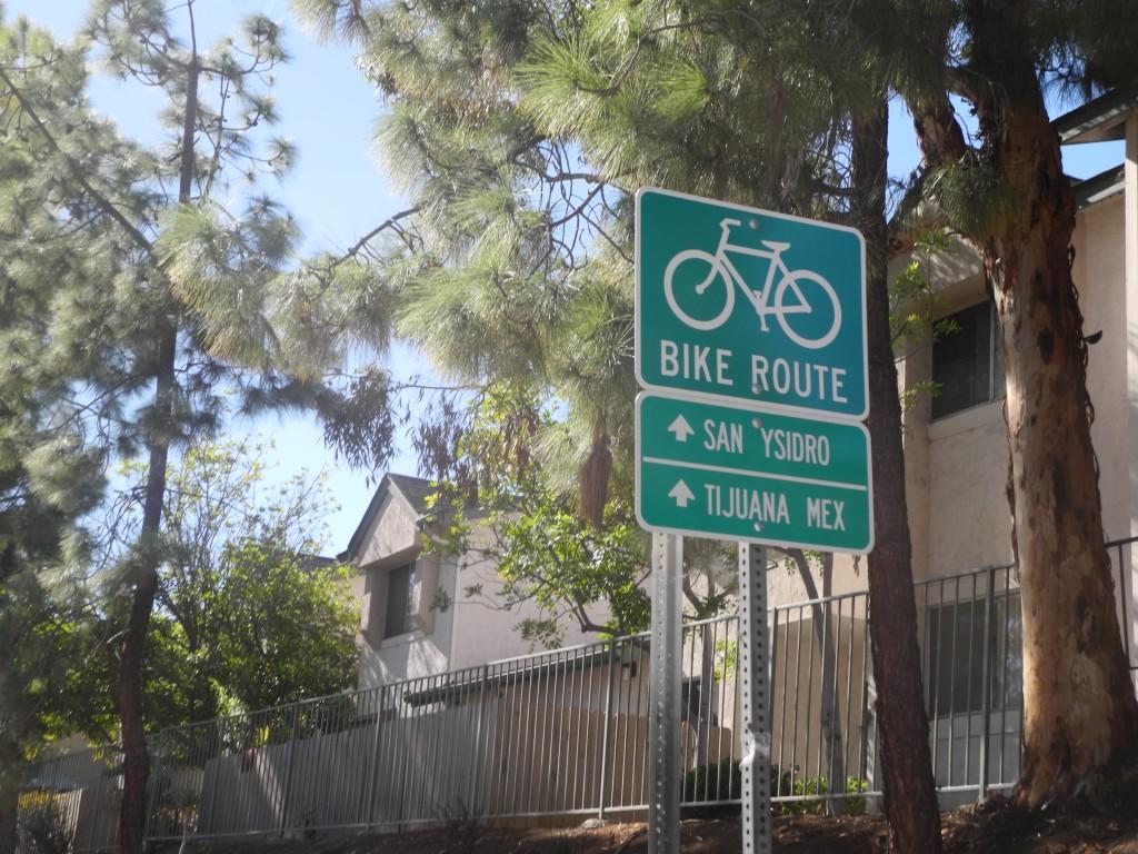 Bike Route to Tijuana