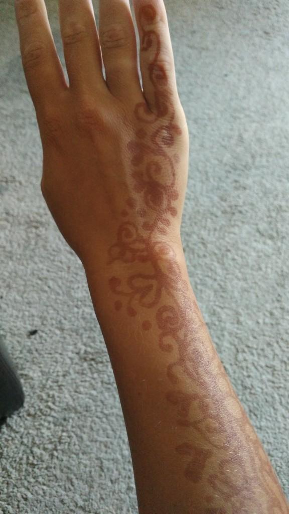 Henna Tattoo on the arm