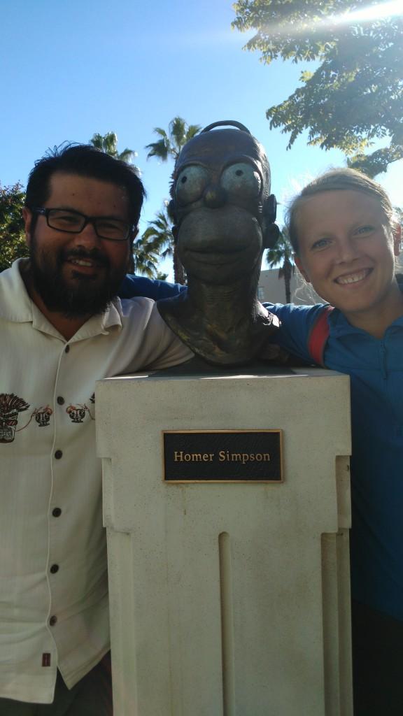 Homer Simpson statue