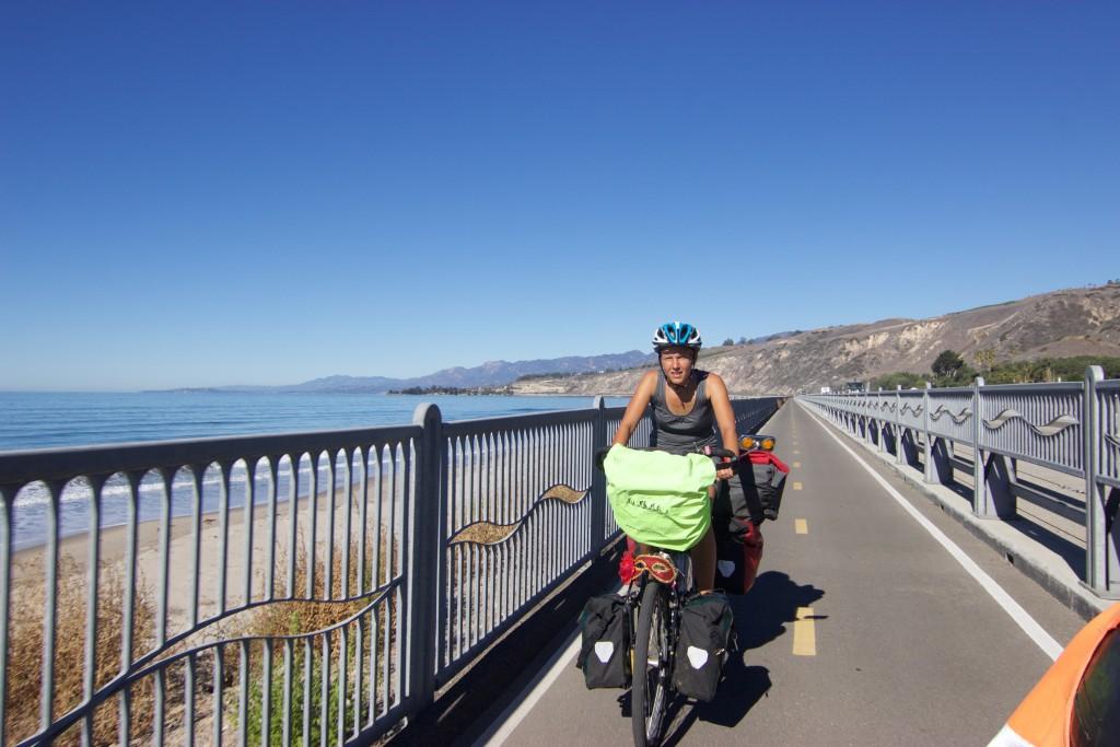 Biking south of Santa Barbara