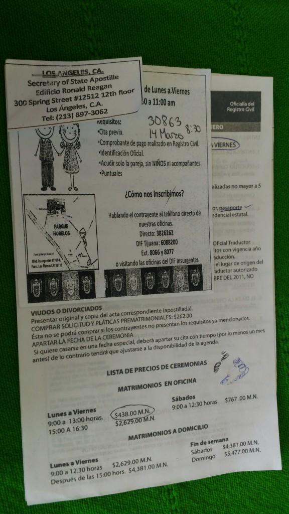 Papierkram Standesamt Mexiko