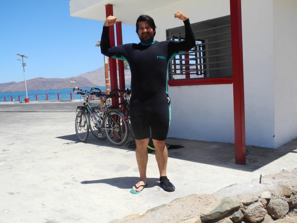 Roberto enjoys snorkeling