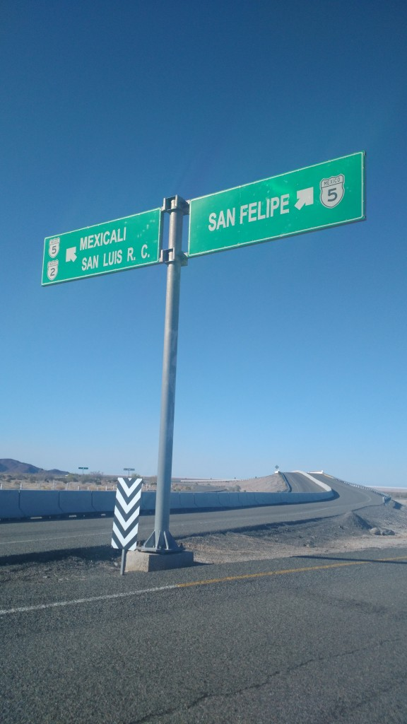 Between Mexicali and San Felipe