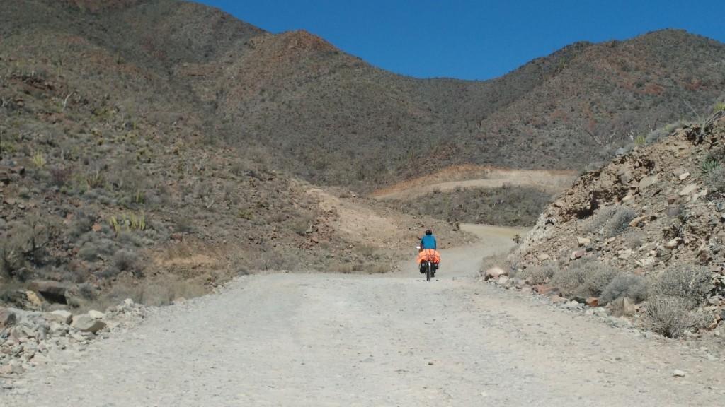 Highway 5 entre Bahía San Luis Gonzaga y La Carretera Transpeninsulár.