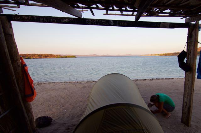 Camping at El Requesón, Bahía Concepción