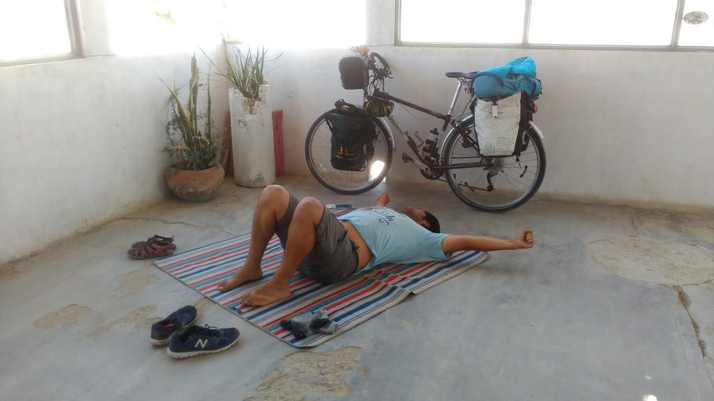 "Nap at Guadalupe's ""Kilómetro 128"""