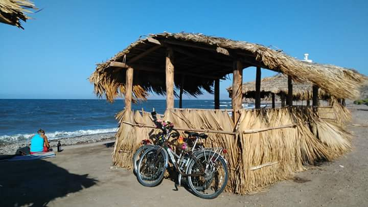 Public Palapa at the beach of Mulegé