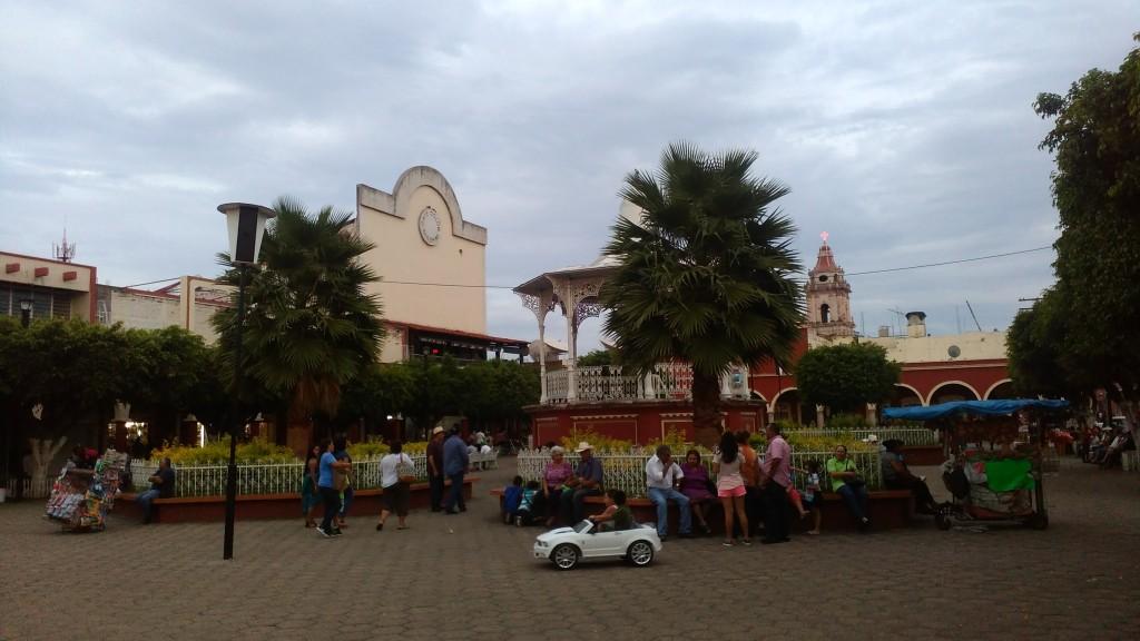 The plaza of Ixtlán del Río