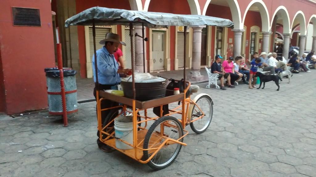 Corn stand in Mexico