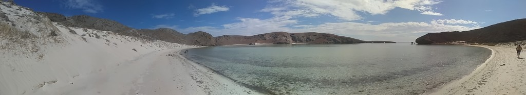 Just one of the beaches near La Paz