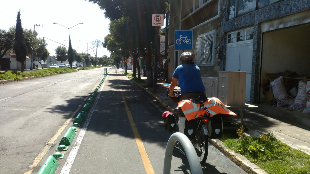 In Toluca gibt es einen Fahrradweg