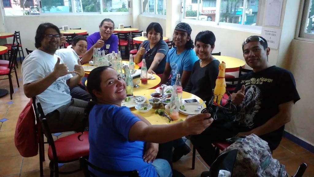 Tacos mit den Organisatoren der Biciescuela