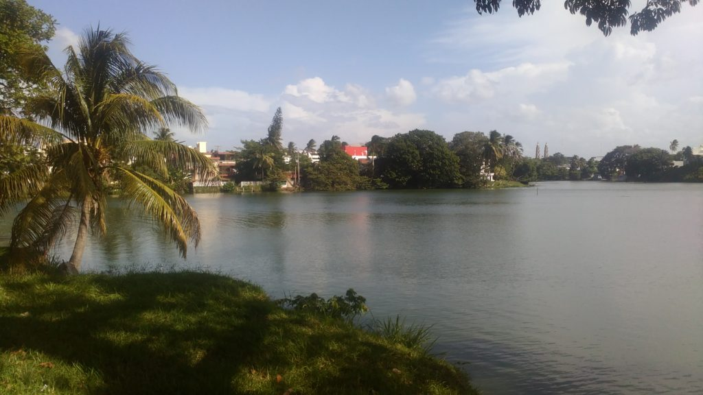 There was a big lake next to Villahermosa's famous museum