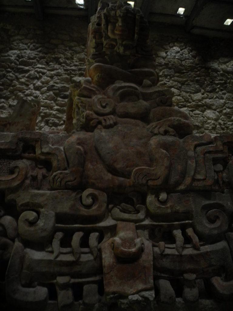 Inside the Maya ruins of Balamkú