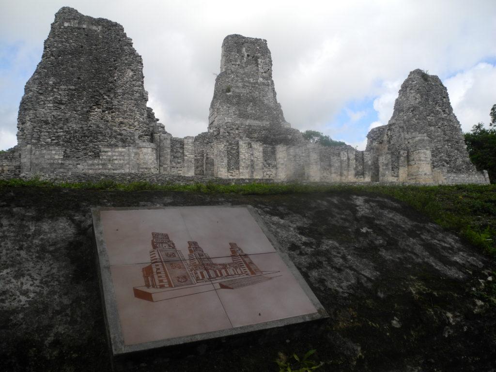 Maya ruins before and now