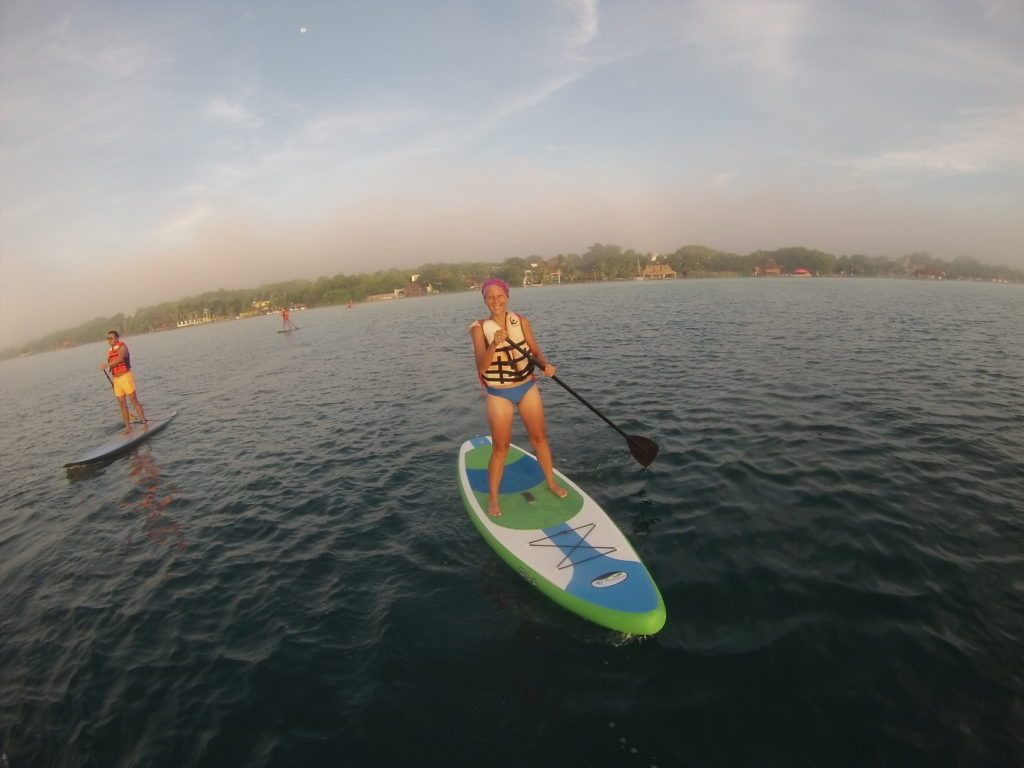 sunrise SUP Tour through the Bacalar lagoon