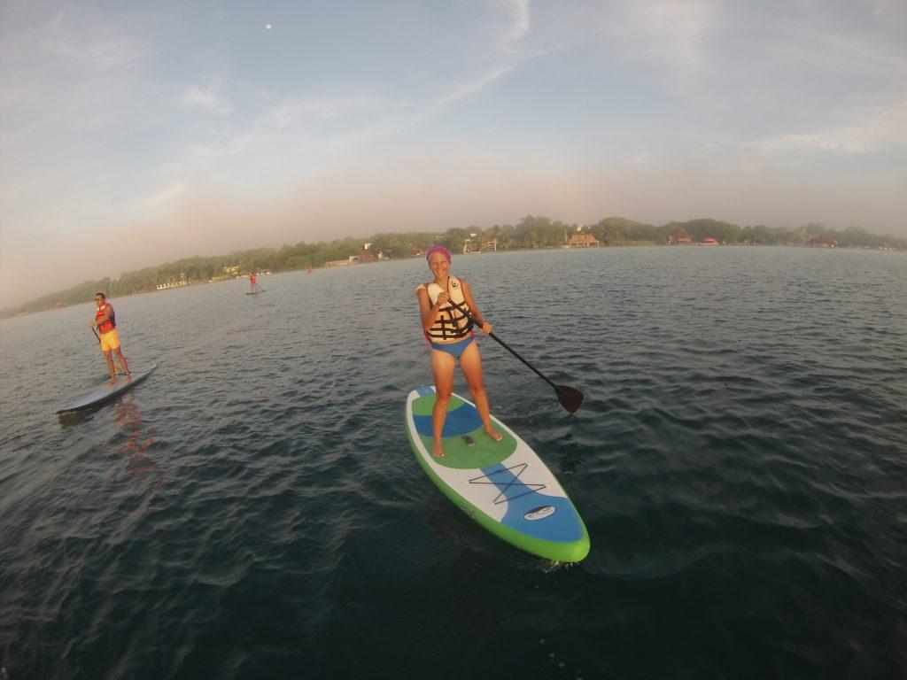sunrise SUP Tour through the Bacalar lagoon