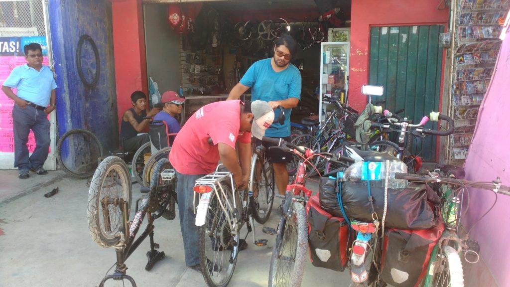 Bike shop in Escárcega, Campeche, Mexico