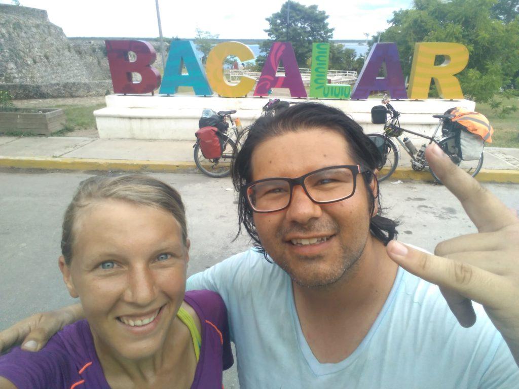 Annika and Roberto selfie in Bacalar