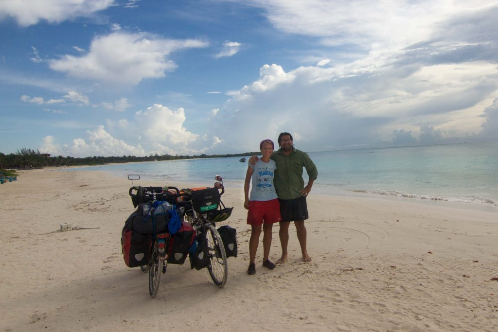 Roberto and Annika at Xpu-Ha beach