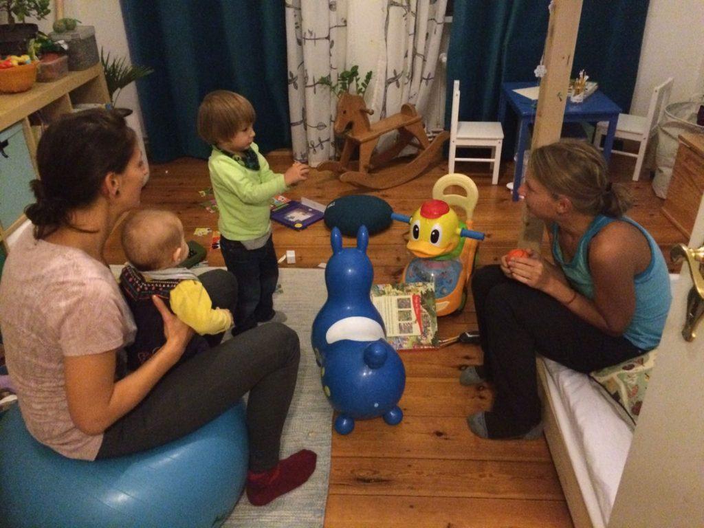 Katya, Mariya und Adrian