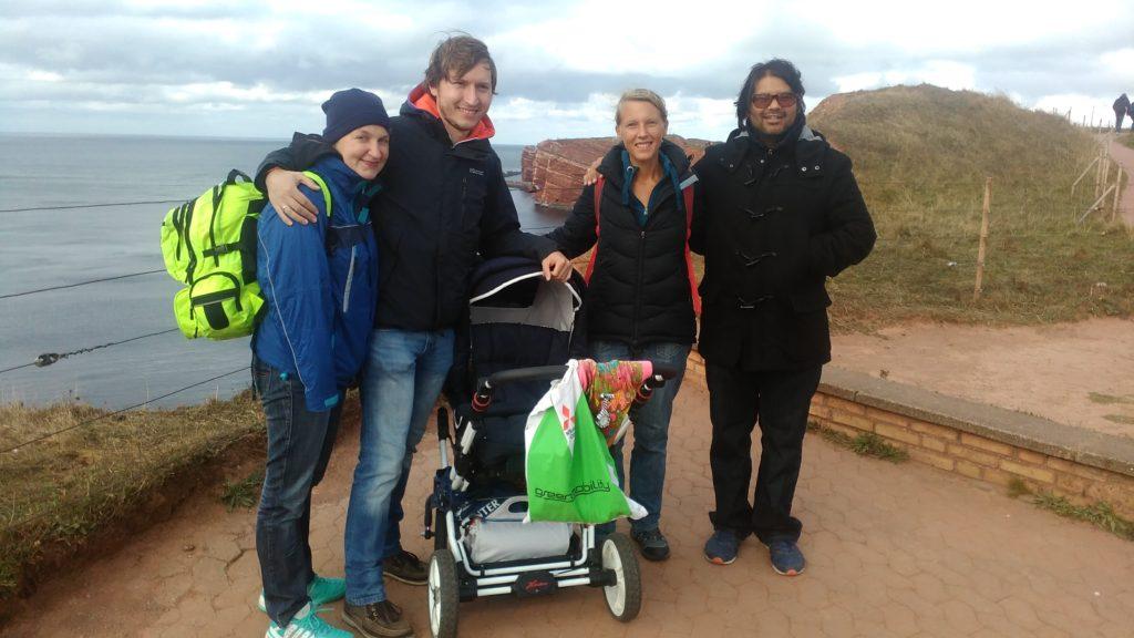 Tanja, Florian, hanna, Annika und Roberto in Helgoland