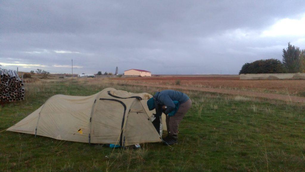Camping near Zaragoza, Spain