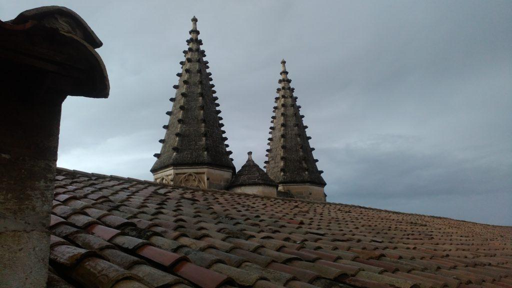 On top of the Palais de Papes in Avignon