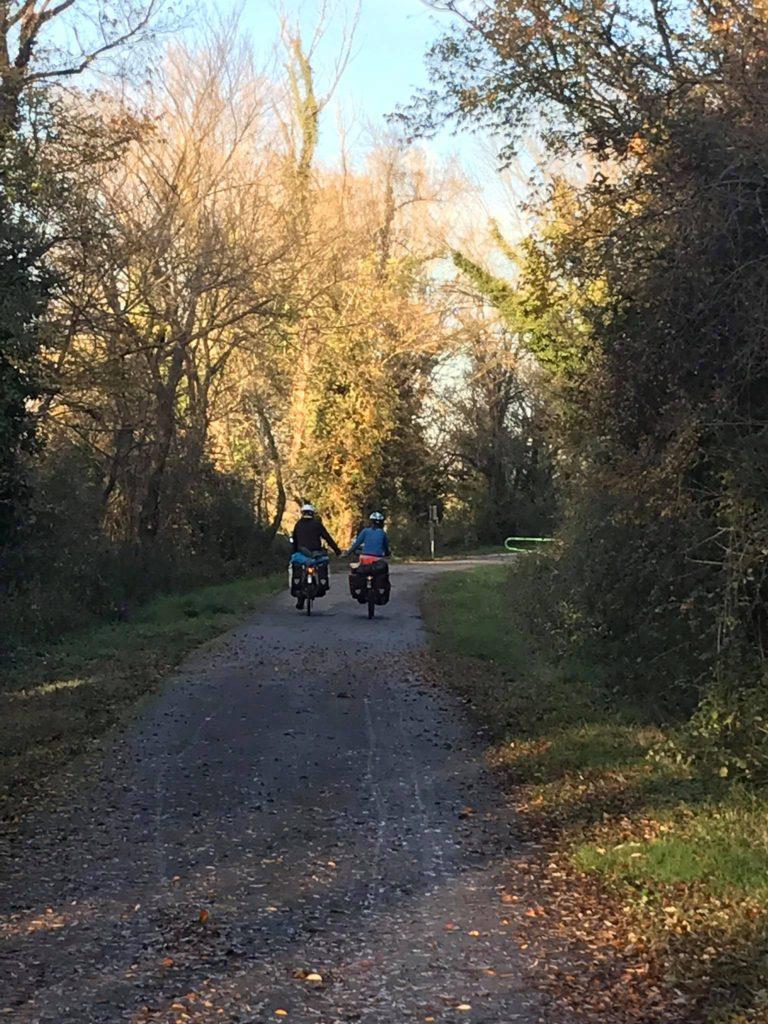 Cycling the Via Rhona bike path