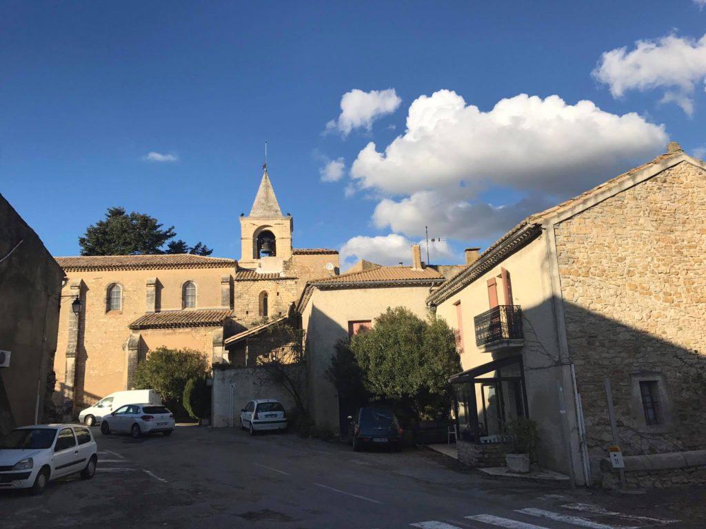 French village Saint Etienne des Sorts discovered by bike