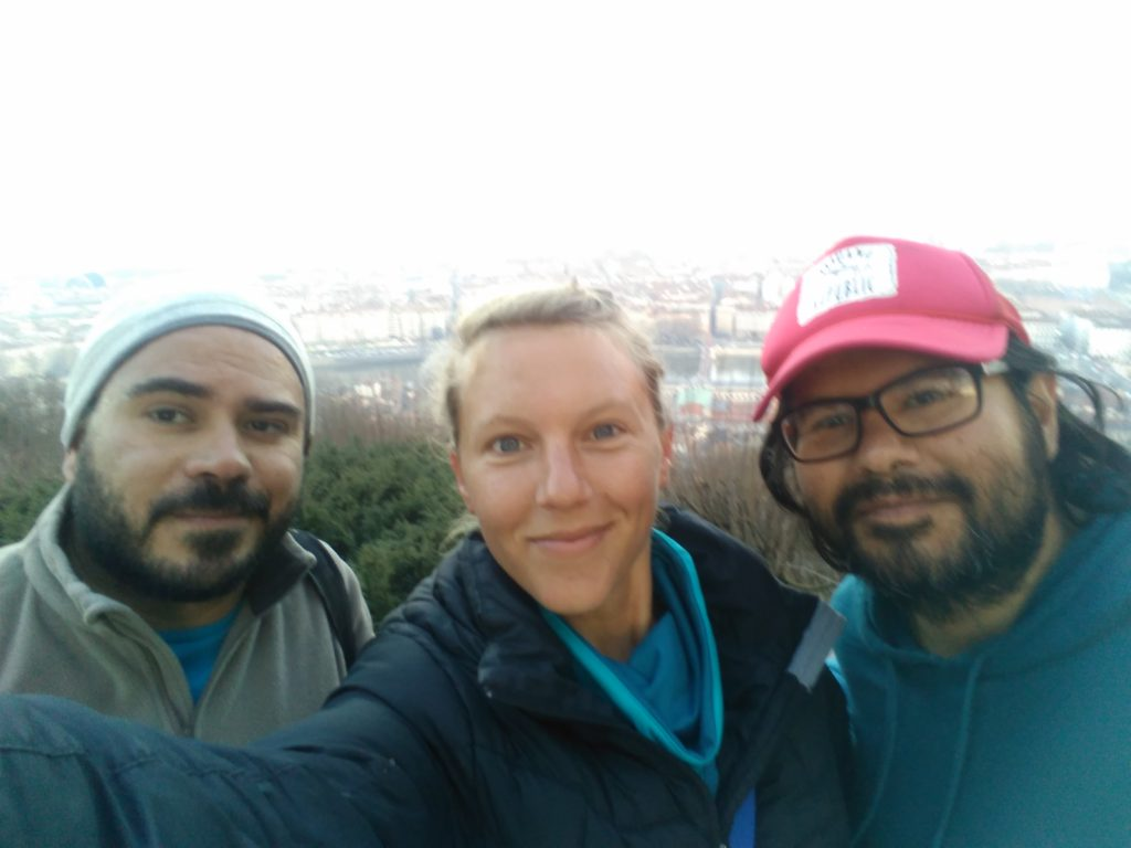 Diego, Roberto und Annika in Lyon
