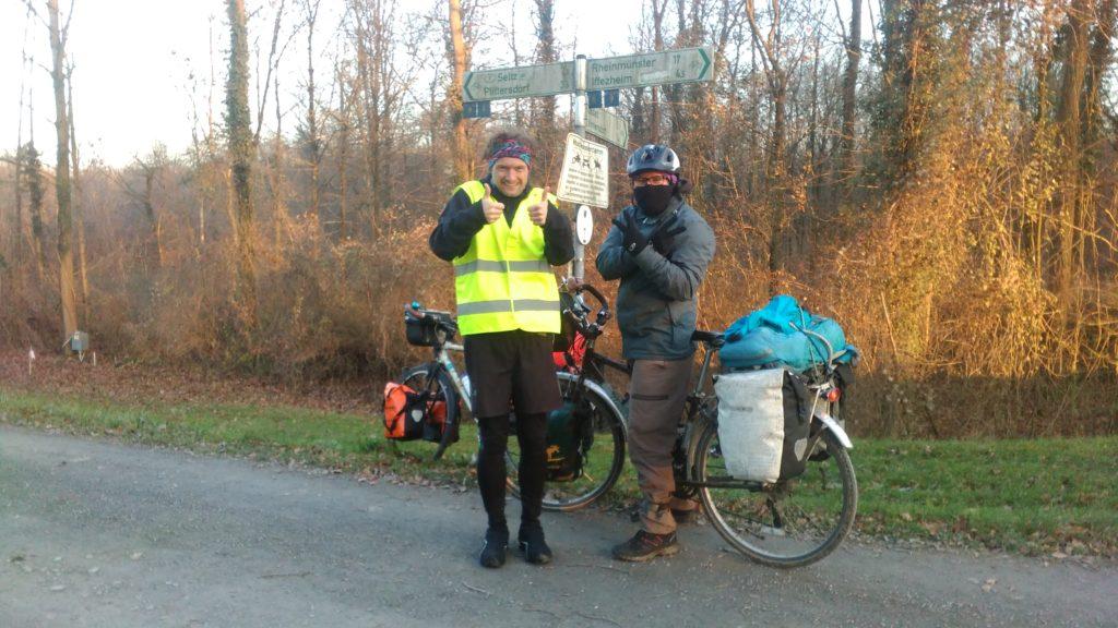 Along the Rhine Bike path with Roberto and Fabian