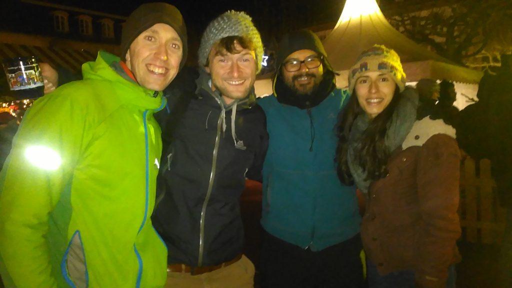 Simon, Fabian, Roberto und Tanya in Heidelberg
