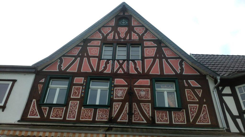 Fachwerkhaus am Rheinradweg