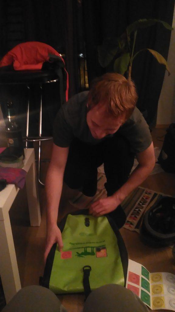 Patrick aus Gelsenkirchen mit seiner Unterwegs Radtasche